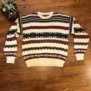 VINTAGE chunky knit oversized sweater L grandpa